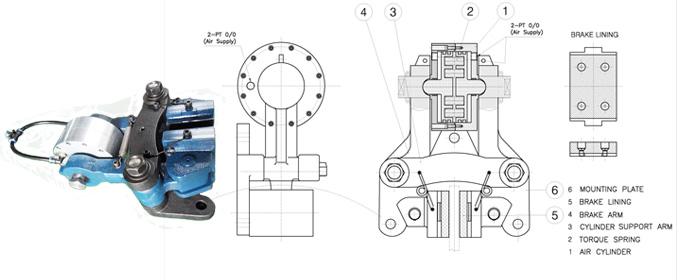 气动离合器-【供应韩国现代气动夹紧式制动器